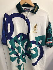 Olympics Games Shirt 1996 Atlanta Vintage Hanes Staff Uniform Polo Size XL USA