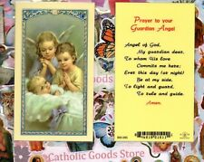 Prayer to your Guardian Angel - Laminated Holy Card