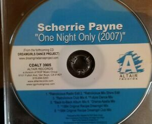 Scherrie Payne - One Night Only 2007 - RARE U.S. CD MAXI-SINGLE