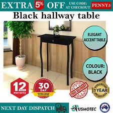Black Narrow Hallway Table Slim Entry Hall Thin Console Cottage Corner Furniture