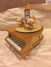 "Schmid Grand Piano Wood Music Box Tune #264 ""As Time Goes By"" Japan Works"