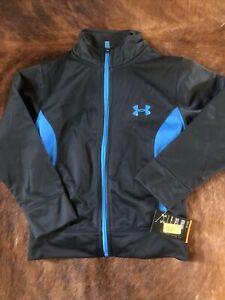 Under Armour UA Lightweight Gray Blue Full Zip Jacket Sz 5 New W Tag