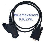Serial Programming Cable Motorola MTS2000 MTS2010 MTS2013 DB9 MHT1K Support
