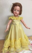 "Beautiful Vintage Effanbee Doll 21"" Anne Shirley, Human Hair, Blue Eyes-Original"