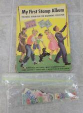 Vintage 1954 My First Stamp Album Minkus Publications