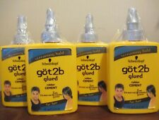 Lot of 4 Got 2b Glued Rubber Cement Hair Gel 6 oz