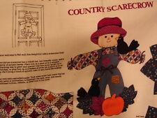 "Country Scarecrow Panel 20"" Stuffed Autumn Decoration VIP Cranston Print Uncut"