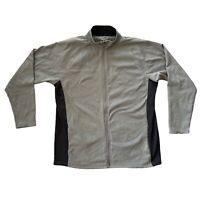 "Champion Sports Track Jacket Grey Black Full Zip XL Large 24"" Mens L Fleece"