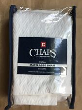 "Chaps Home ""Matelasse� Standard Pillow Sham Size: 20 х 26"" New Ship Free White"