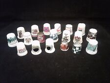 Lot of 20 Collector Thimbles - Foreign/ Event/Unusual - Porcelain, Metal, wood