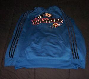 Adidas Men's OKC Oklahoma City Thunder NBA Hoodie Size M Blue - NWT