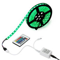 5M 300LEDs RGB 5050 SMD IP65-Waterproof LED Strip Light Lamp + 24-Keys IR Remote