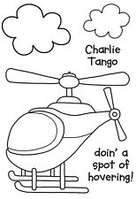 Woodware Clear Singles  Stamp - Charlie Tango JGS504