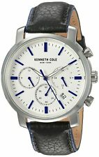 Kenneth Cole New York Men's Stainless Steel & Leather Quartz Watch KC50775001