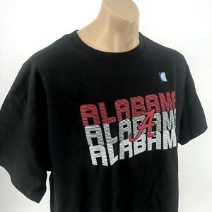 NWT NCAA Alabama Crimson Tide College Classic Crew Neck Black Tshirt