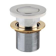 Round 32mm Chrome Pop Up Basin Sink Waste Plug with Overflow | 40mm adaptor -AU