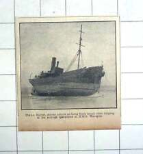 1950 The Ss Barnet Driven Ashore On Long Rock After Helping Salvage Hms Warspite