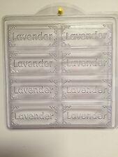 Tray-Lavender Soap Mold.  8 Cavity Milky Way Soap Mold