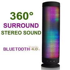Portable Colorful 360° LED Light Stereo Wireless Bluetooth Music Speaker Player
