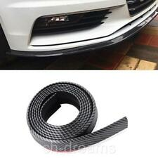 8FT PU Carbon Fiber Front Bumper Lip Splitter Chin Spoiler Body Trim Universal