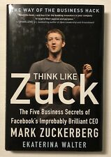 THINK LIKE ZUCK, Business Hack, Hardcover, CEO, EKATERINA WALTER, Facebook,2013.