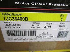 brand NEW in the  BOX GE 600VAC 400AMP 3POLE CIRCUIT BREAKER TJC36400B