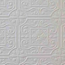 Faux Tin Ceiling Tile Textured Paintable Wallpaper 148 59001 DOUBLE ROLL