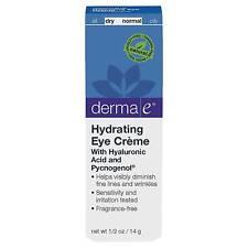 2x Derma E Hydrating Eye Cream Hyaluronic Acid Pycnogenol Fragrance Vegan
