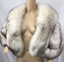 Natural Blue Fox Fur Stole Wrap Shawl Wedding Bridal Fur Bridesmaid