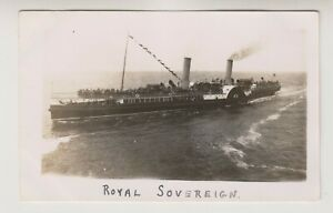 Shipping postcard - PS Royal Sovereign Padde Steamer - (A275)