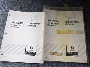 New Holland Operators Manual Series 758C 756C Backhoe