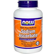 NOW FOODS - SODIUM ASCORBATE POWDER 1000mg x 227 SERVINGS, VITAMIN C, 8oz POWDER