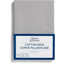 House & Home 250 Thread Count Curve Pillowcase - Alloy