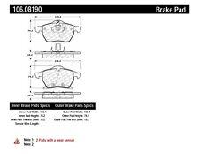 Disc Brake Pad Set Front Centric 106.08190
