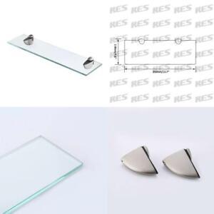 KES Bathroom Glass Shelf Organizer Extra Thick Tempered 35CM, Brushed Finish