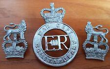 More details for war dept police cap badge & collar dogs vintage & obsolete police force 1964