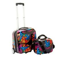 Heys Hardside 2-Piece Luggage Set with Jewelry Roll F11107 BUTTERFLY NEW