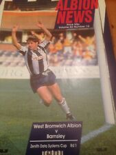 West Bromwich Albion V Barnsley-Zenith Data Systems Taza RD 1 - 21/11/1990