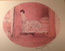 """Signed Reproduction Print """"Pink Alcove""""  Louis ICart 1929 ParisCustom Framed"""