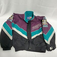New listing Vintage 90s Starter Jacket Mighty Ducks zip/button up.  (See Description) size L