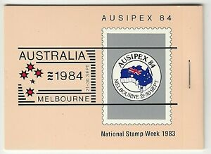 1984 AUSTRALIA STAMP BOOKLET 'AUSIPEX 84' (RIGHT STAPLE) BOOKLET of BUTTERFLIES