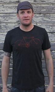 Antique Racycle Bicycle Tri-Blend T Shirt Retro Vintage Track Bike Flying Merkel