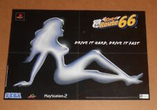 The King of Route 66 Sega Playstation 2 Video Game 2-Sided Poster Promo 21x14.5