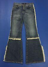 Gas jeans donna w28 tg 42 blu usato cowboy zampa disco hot vintage retro T2460