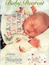 Knitting PATTERNS Babies Sweaters Hat Booties Embroidery Aran 6-24 months