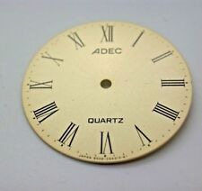 Vintage ADEC Quartz Dials Made by Citizen NOS Watch Repair Parts Yellow Color