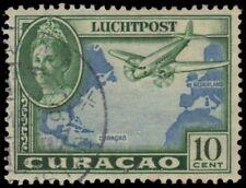 "NETHERLANDS ANTILLES C18 (Mi183) - Plane over the Atlantic ""Airmail"" (pf58765)"