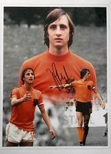Johan Cruyff Holanda firmado 16x12 imagen un montaje Foto Distribuidor UACC AFTAL