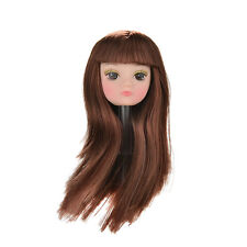 1Pcs Doll Head with Flaxen Long Hair DIY Accessories For Barbie Doll Baby Toy BH