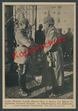 Wilhelm II. Frontbesuch Gen. Below 12. Isonzoschlacht Passariano Karfreit  1917